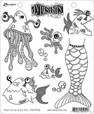 Ranger Ink Dylusions Stamps Unmounted Rubber Stamps Plenty More Fish In the Sea