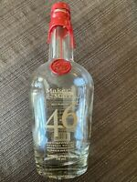 MAKERS MARK 46 WHISKEY BOTTLE 750 ml EMPTY WITH CAP FREE SHIPPING