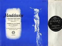 HPG 1024 DELAME mendelssohn a midsummer night's dream/symphony no 5 LP EX-/EX-