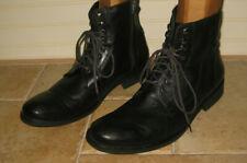 Donald J. Pliner Jac Men's Black Leather Ankle Boots Size 10 M