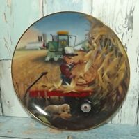 BUMPER CROP LITTLE FARMHANDS DONALD ZOLAN/DANBURY MINT JOHN DEERE $18 SHIPPED