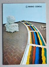 Mario Ceroli, Galleria de'Foscherari, Bologna, 1970. Pop art. Arte povera