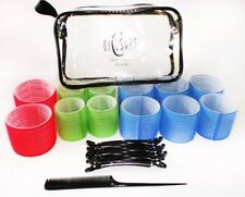 DiCesare Hair Styling Systems 12 Pc Roller Set With Clips, Comb, And Travel Bag