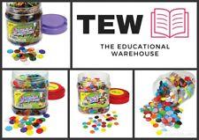Counters 16mm - 22mm 10 Colours Maths Games Teacher Resources Kids Classroom