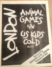 LONDON Animal Games 1977 UK Poster size Press ADVERT 16x12 inches
