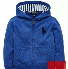 Bnwt Polo Ralph Lauren Boys Blue Top Classic Zip Trough Hooded Jacket Age 18 20