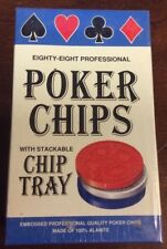 Vintage 88 Professional Poker Chips By Jax Ltd CollectibleCurrencyAndCoin.com