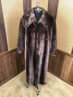 PINO NORTHERN SUPREME PHANTOM SHEARED BEAVER FUR COAT JACKET STROLLER M-L 8-10