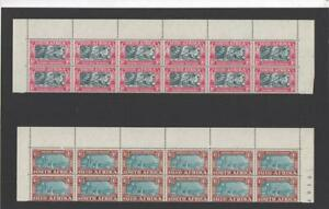 SOUTH AFRICA 1938  SG80/1 IN MNH BLOCKS OF 12