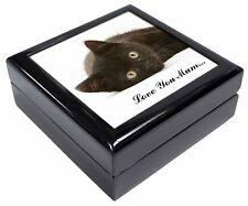 Keepsake/Jewellery Box Black Cat 'Love You Mum' Christmas Gift, AC-131lymJB