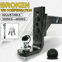 AU 4000KG Adjustable Height Tow Hitch 50mm Ball Towbar Drop Mount Tongue Trailer