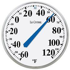 "Temperature Thermometer Weatherproof Analog Vintage Round Indoor Outdoor 14"""