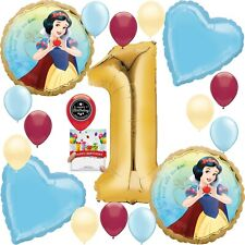 Snow White Party Supplies Balloon Decoration Bouquet Bundle for 1st Birthday