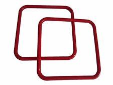 "Pair of 8"" Red Square Marbella Plastic Macrame Craft Handbag Purse Handles"