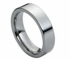 Free Laser Engraving 6mm Men Tungsten carbide Pipe Cut Shiny wedding band ring