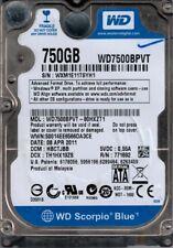 WD7500BPVT-80HXZT1 DCM: HBCTJBB Western Digital 750GB