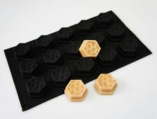 15 cell BLACK Honey Honeycomb Bees Wax Beeswax Silicone Baking Mould Cake Pan
