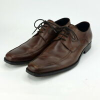 Johnston & Murphy Men's Brown Oxford size 10 D  Made in Italy 15 6760