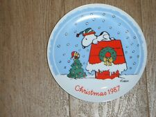 Vintage Peanuts 1987 Christmas Collector Plate Limited Edition Charles Schulz!