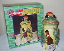 Budweiser Bud Frog Cs301 #883 Character Stein Coa Anheuser-Busch