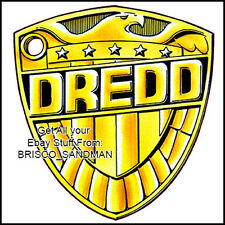 Fridge Fun Refrigerator Magnet JUDGE DREDD Shield Badge Version B DIE-CUT