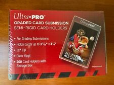Ultra Pro Graded Card Submission Semi-Rigid Card Holders (200) - New Sealed QTY