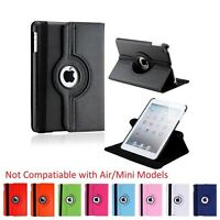 Apple iPad 2 / 3 / 4 Leather Case - Rotates 360 Degrees Magnetic Cover Stand