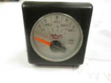 1990 Bayliner Capri Faria Square Bezel White Faced Oil Pressure Gauge