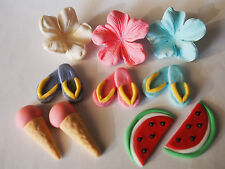 20 Summer Beach Pool Party Thongs CUPCAKE TOPPERS edible sugar cake decorations