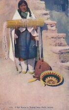 Oraibi AZ * Hopi Indian in Wedding Dress  1907 *  Basket  Williamson-Haffner Pub