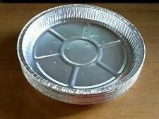 "30 X Lg. 7.5"" x 1""  Round Aluminium Lanced Tin Foil Baking Pie Quiche Tart Tray"