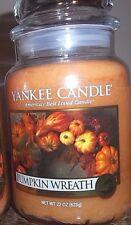 Yankee Candle  Pumpkin Wreath  22 oz. Single Candle SALE!!!!  Free Shipping.