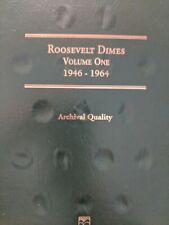 Roosevelt Dimes, Vol I, 1946-1964, Littleton Coin Folder, no coins
