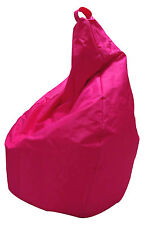 POLTRONA SACCO BEAN BAG POUF PUFF IN NYLON FUCSIA SOLO FODERA - MADE IN ITALY!