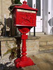 Boîte Livraison sur support aluminium Rouge décorative COURRIER BOITE
