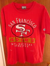 SAN FRANCISCO 49ERS T shirt XL 1995 football schedule NFC West Champs NFL Nutmeg