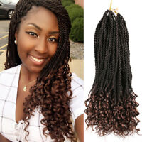 "18"" Senegalese Crochet Twist Hair Curly End Crochet Braids Senegalese Twist Hair"