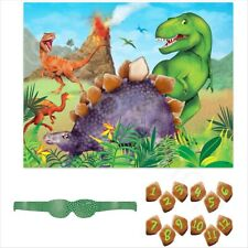 14pc Stick Pin The Tail on The Dinosaur Party Game Kids Fun Birthday Activity