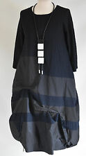 GERMAN ZEDD.PLUS quirky/lagenlook PARACHUTE  DRESS NECKLACE SIZE XL/XXL NAVY