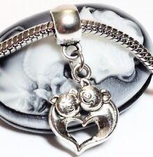*Hugging Pigs*_Bead For European Charm Bracelet_Love Valentine Family Mom Child