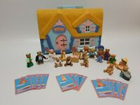 Vintage Teddy In My Pocket 18 Figures And Playhouse 1995 inc some cards