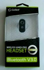 New listing Cellet Black Mini Bluetooth Wireless Hands Free Headset Earpiece iPhone