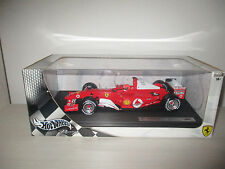 FERRARI 2004 MICHAEL SCHUMACHER HOTWHEELS RACING SCALA 1:18