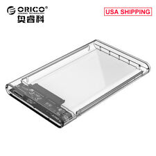 "ORICO 2.5""Transparent USB3.0 to Sata 3.0 HDD Case Tool Free 5Gbp Drive Enclosure"