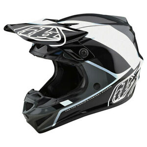 New Troy Lee Designs SE4 Beta Silver Black Adult XL MX Helmet TLD Motocross