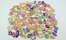2000 GRAM 18K GOLD PLATED SLICE DRUZY CONNECTOR CLASPS ALLOY 400 PCS OVERLAY LOT