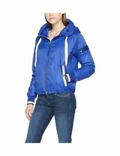 True Religion Women's Light Weight Deep Ultramarine Bomber Jacket 16