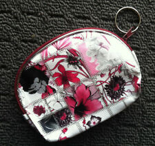 """SPRING FLOWERS """"Burgundy Red"""" Beautiful Women's Coin Purse Money Pouch Bag"""
