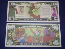 UNC. ROBIN HOOD  NOVELTY NOTE ONLY .25 SHIPPING FREE SHIP + FREE NOTES!