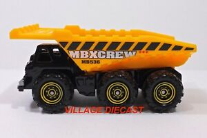 "2013 Matchbox ""Mission Force: Construction"" 3-Axle Dump Truck BLACK / OLD LOGO"